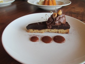 My personal favorite, Chocolate Toasted Hazelnut Tart